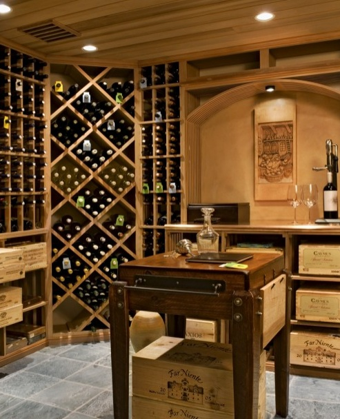 Tips for creating a wine cellar at home chris george homes - Home wine room ...