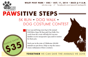 PAWSitive Steps 5K Offers Fundraising Program for OklahomaPets